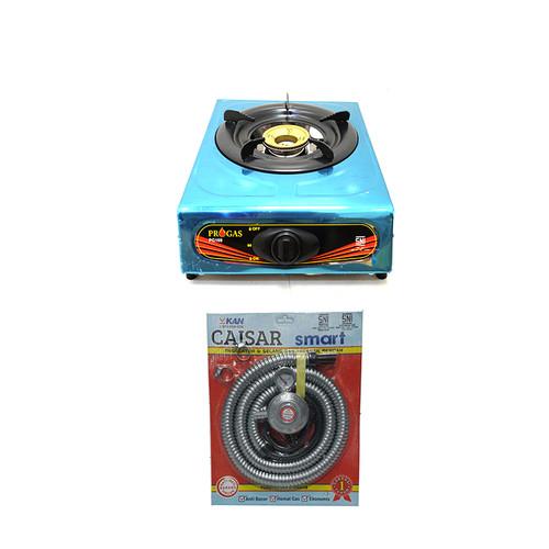 Foto Produk Kompor Gas 1 Tungku Bonus Selang Gas Paket Regulator Meter - Murah dari Utama Mega Elektrik