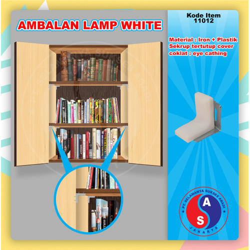 Foto Produk Ambalan Kayu Lamp Putih Siku L Penyangga Besi Plastik Trapes / 11012 dari WINSTON SUKSES ABADI
