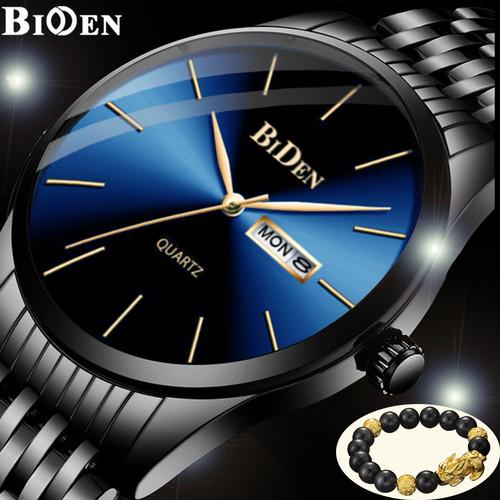 Foto Produk jam tangan Biden pria Bisnis Santai Tali stainless steel Tahan Air jam - Biru dari BIDEN Official Store