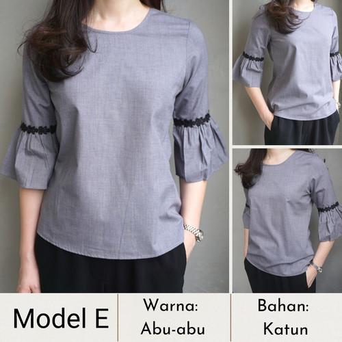 Foto Produk Baju Wanita/Blouse/Blazer Basic dan Elegan-Style Korea - Model E, S dari Aratnamil Shop