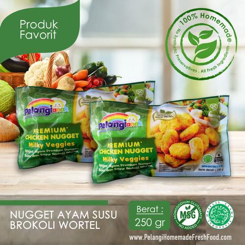 Foto Produk Nugget Ayam Susu Brokoli Wortel dari PELANGI HEALTHY FROZEN FOOD OFFICIAL