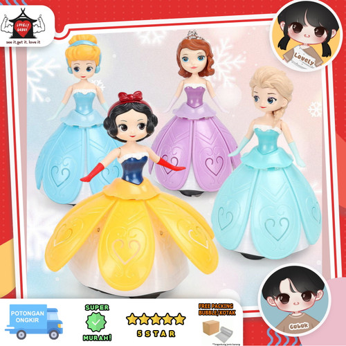 Foto Produk Mainan ice princess dancing, Mainan putri gerak putar, Didai princess - Sofia dari Lovely Gubuk