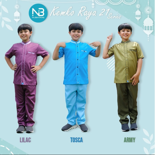 Foto Produk Koko Anak Raya21 Set Celana by Nubintang dari kedai berkah
