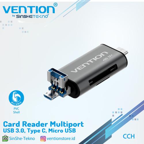 Foto Produk Vention [CCH] AllIn1 USB 3.0 CardReader Micro SD TF Type-C OTG Premium dari VENTION by SinsheTekno