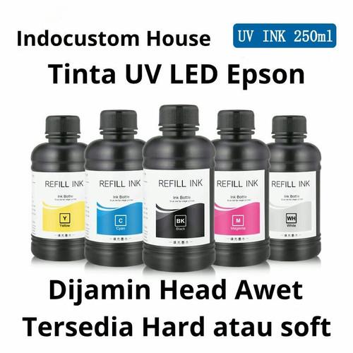 Foto Produk Tinta UV LED untuk Printer EPSON 250 ml - MATERIAL SOFT dari INDO CUSTOM HOUSE