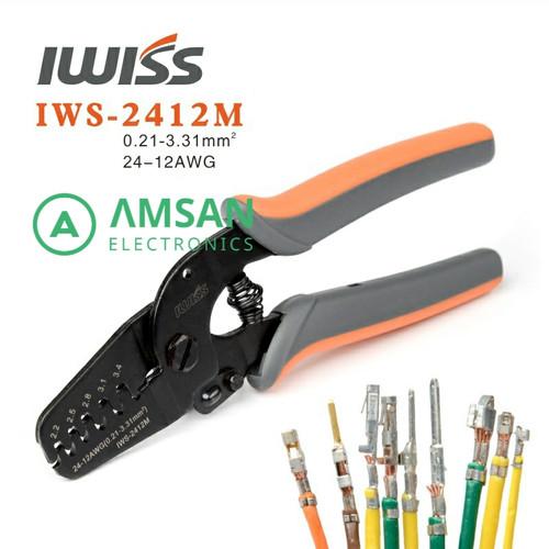 Foto Produk IWISS 2412M 2820M Tang Crimping JAM Molex Tyco JST 24-12 28-20 AWG - IWS-2412M dari amsan-electronics