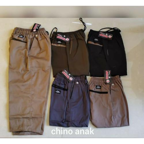 Foto Produk Celana Chinos Chino Anak 5-10tahun - Hitam, L dari griyahijabq