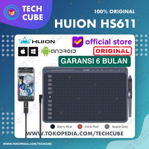 Foto Produk Huion HS611 Graphics Drawing Digital Pen Tablet Altr H640P H950P H320M - Space Grey dari Tech Cube