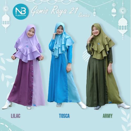 Foto Produk Gamis Anak Raya21 Set Jilbab by Nubintang dari kedai berkah