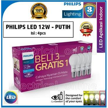 Foto Produk Lampu Philips LED [PACK] Bulb 12-98W E27 6500K 230V A60-MyCare (Putih) dari electrical online