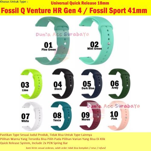 Foto Produk Strap Rubber 18mm Tali Sport Fossil Gen 4 Q Venture Fossil Sport 41mm - 01 Pine Green dari Dunia Accessories Surabaya