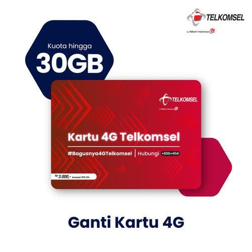Foto Produk Kartu Upgrade 4G Telkomsel - Makin Untung Hingga 30GB (1 Bulan) dari Telkomsel