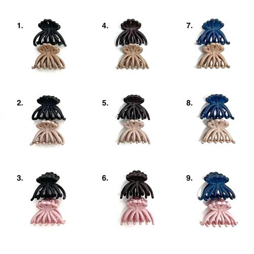 Foto Produk Jepit Poni Matte Model Fleur (Small) - Jedai Mini Made in Korea dari Lily's Accessories