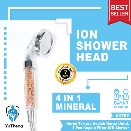 Foto Produk 4in1 Mineral Ion Shower Head|| Water Filter Ionizer for Healthy Life dari YuThena Official Store
