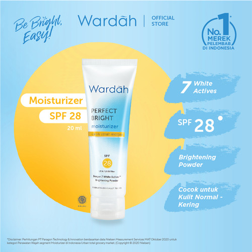Foto Produk Wardah Perfect Bright Moisturizer SPF 28 20 ml dari Wardah Official