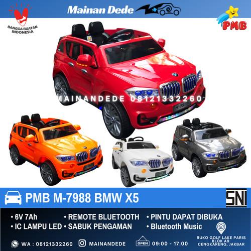 Foto Produk Mainan Anak Mobil Aki PMB M-7988 BMW X5 - Merah dari Mainan Anak Dede