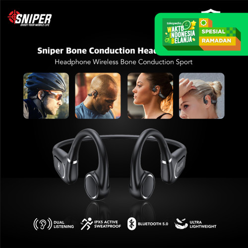 Foto Produk Sniper Bone Conduction Headphone Wireless Sport BC-TF dari Sniper Indonesia