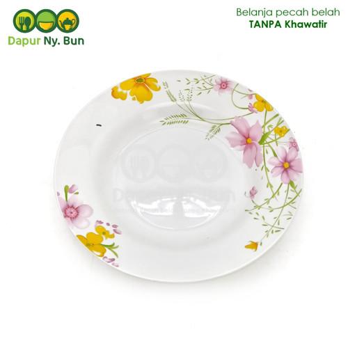 Foto Produk Piring Makan Keramik Motif AXIO FLOWER Ukuran 23cm /Piring Bunga 9Inch dari Dapur Ny.Bun