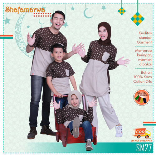 Foto Produk Sarimbit Shafamarwa 27 - Cokpi   Kaos Couple   Baju Keluarga - Anak LK 2-6th dari locell