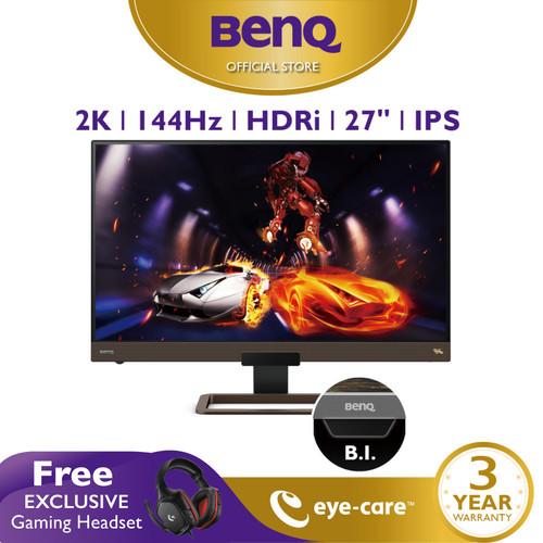 Foto Produk Monitor 144Hz EX2780Q 27inch 2K IPS QHD HDR Eye Care Gaming Monitor dari BenQ Official Store