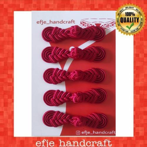 Foto Produk Kancing Cheongsam / Shanghai EFJE K002- RED MAROON dari efje_handcraft