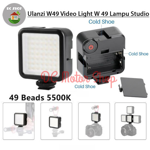 Foto Produk Ulanzi LED Video Light W49 W 49 Lampu Studio Dslr Smartphone HP Vlog dari DC Motor Shop