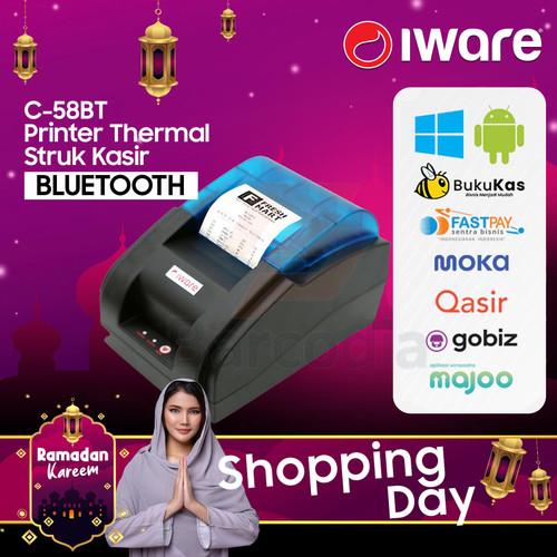 Foto Produk PRINTER KASIR PPOB BLUETOOTH 58MM C-58BT PRJ58D USB+BLUETOOTH dari Barcodia Indonesia