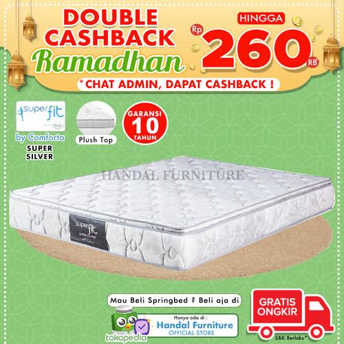 Foto Produk Comforta Hanya Kasur Spring bed Super Fit Silver 120x200 dari Handal Furniture