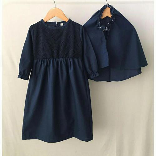 Foto Produk Gamis Dress Baju Busana Muslim Blanjuran Anak Perempuan 1-6 Tahun - SIZE 1 THN dari niagaid