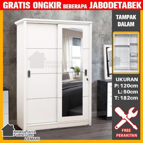 Foto Produk Lemari 2 pintu sliding knockdown dari Toko Meubel Marga Jaya
