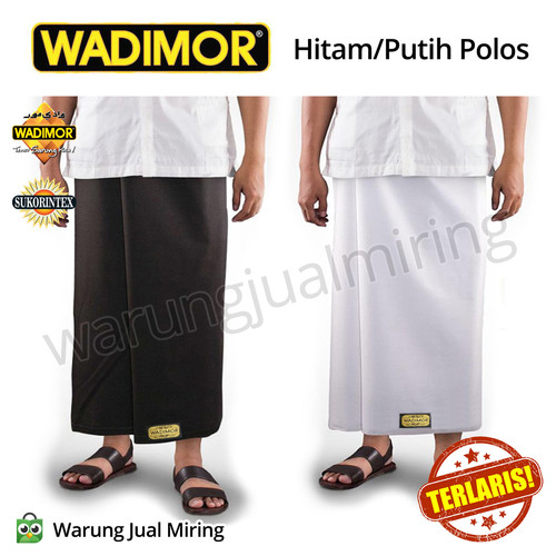 Foto Produk Sarung Tenun Wadimor - Hitam Atau Putih Polos - Warna Random dari Warung Jual Miring