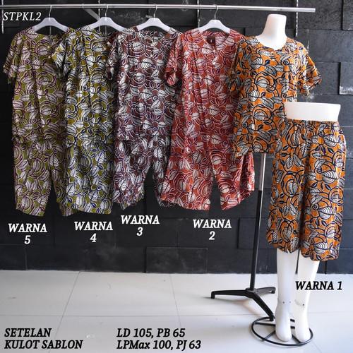 Foto Produk Setelan Kulot Baby Doll Daster Baju Pakaian Tidur Batik Pekalongan 2 dari Rumah Batik Pekalongan 2