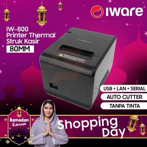 Foto Produk THERMAL PRINTER 80mm IWARE IW 800 HIGH SPEED ( USB + RS232 + LAN ) dari Barcodia Indonesia