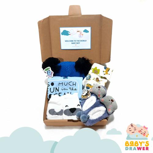 Foto Produk Hampers Bayi Newborn / Kado Lahiran Baby / Gift Set - BABY BOY, 6-12 dari Baby's Drawer