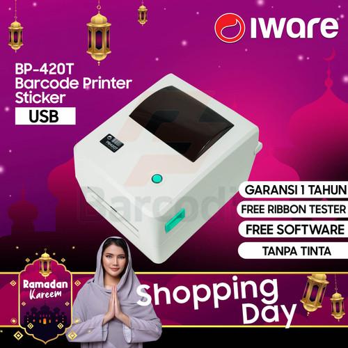Foto Produk ZEBRA GC420T/GC-420 PRINTER BARCODE / LABEL PRINTER IWARE PB-420T USB dari Barcodia Indonesia