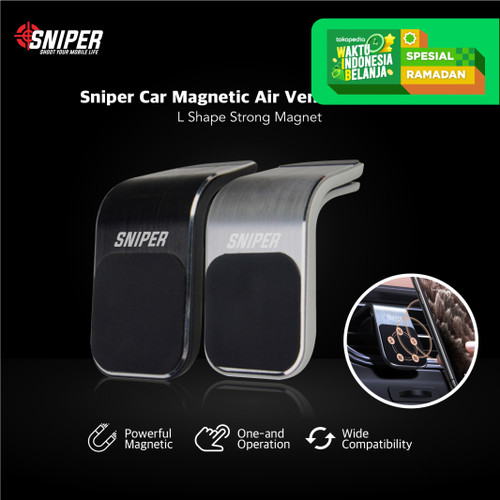 Foto Produk Sniper Car Magnetic Air Vent Car Holder - Abu-abu dari Sniper Indonesia
