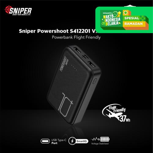 Foto Produk Powerbank Sniper 10000 mAh Powershoot S412201 V2.0 dari Sniper Indonesia