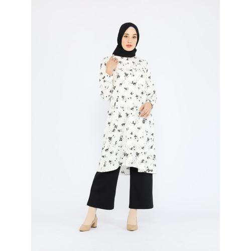 Foto Produk Nafashakila Nilam Atasan Tunik Muslim Putih, bisa untuk Ibu Menyusui dari nafashakila