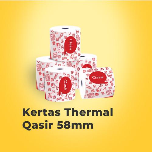 Foto Produk Kertas Thermal 58mm 20 Roll/ Paper Thermal 58mm (Watermark Qasir) dari Qasir.ID