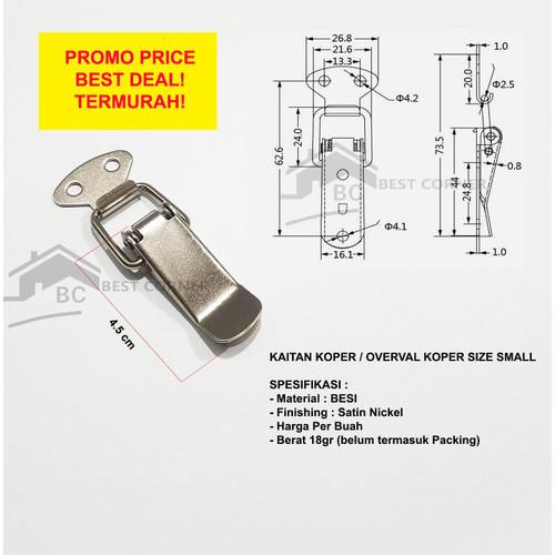 Foto Produk Kaitan Peti Small / Overval / Kunci Koper dari Best Corner
