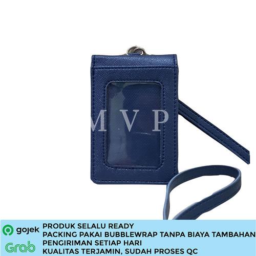 Foto Produk Lanyard Kulit Magnet ID Card Holder Name Tag Kulit berkualitas - Biru dari MVP BAG