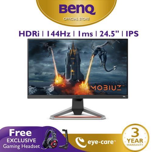 Foto Produk Monitor 144Hz BenQ MOBIUZ EX2510 24.5 inch 1ms IPS HDR Gaming Monitor dari BenQ Official Store