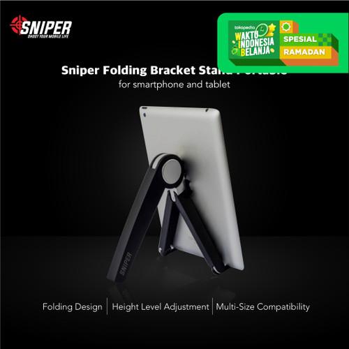 Foto Produk Sniper Folding Bracket Stand Portable for Smartphone and Notebook dari Sniper Indonesia