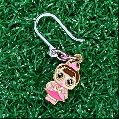 Foto Produk Anting Anak mini boneka LOL in Pink Dress Costume dengan kait plastik dari Rita Handycraft