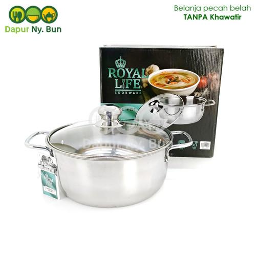 Foto Produk Royal Life Sauce Pot 22cm / Panci Kuping Stainless Steel Diameter 22cm dari Dapur Ny.Bun