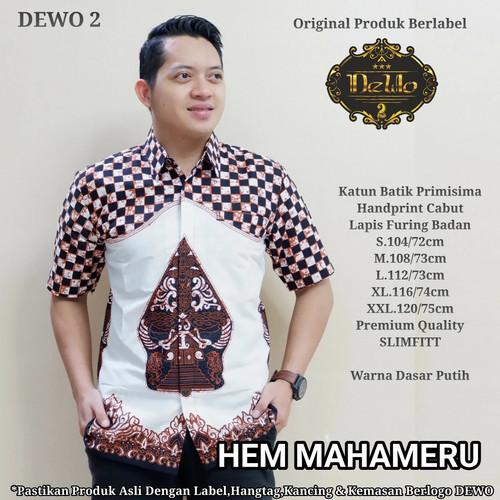 Foto Produk kemeja mahameru pendek batik premium dari Jivan Batik