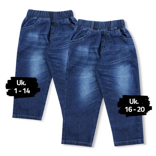 Foto Produk Wakakids Celana Jeans Anak Unisex Basic Usia 6 Bulan - 10 Tahun 020 - 4 dari wakakids