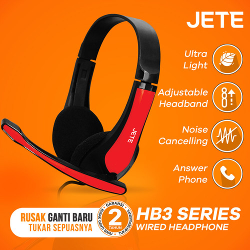 Foto Produk Headset | Handsfree | Headphone Bando JETE HB3 - Hitam dari JETE Official Surabaya