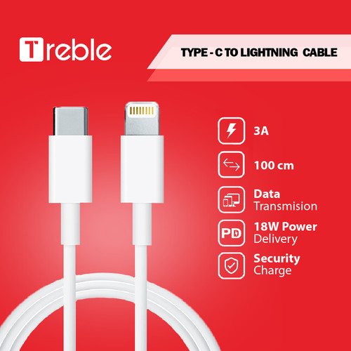 Foto Produk JY X TREBLE Kabel Data Type C to Lightning QC3.0 Fast 1m dari Joyseus Official Store