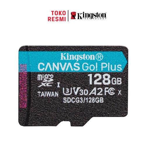 Foto Produk Kingston MicroSD Card Canvas Go! Plus Class 10 MicroSDXC 128GB dari Kingston Official Store